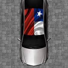 Amazon Com Sign Factory R62 Texas Flag Roof Wrap Decal Decals Wraps Vinyl Wraps Art Poster Image Carbon Hood Car Truck Fiber Hood Automotive