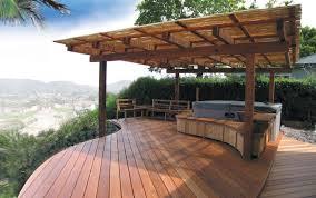 backyard deck design ideas large and