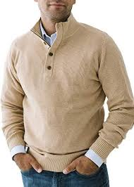waffle knit half zip pullover sweater