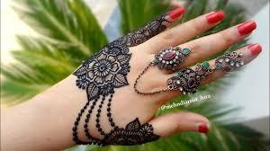 arabic mehndi design jewellery