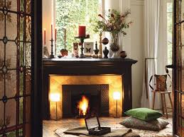 stone fireplace mantel decorating ideas