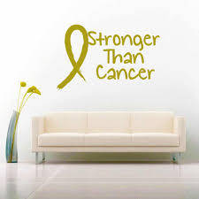 Stronger Than Cancer Vinyl Car Decal Sticker
