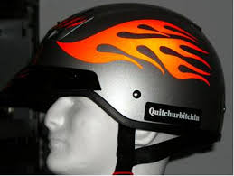 Streetglo Reflective Helmet Flame Decal And Helmet Flame Decal Kits In Reflective Helmet Sticker Graphics