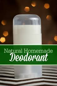 homemade natural deodorant recipe the