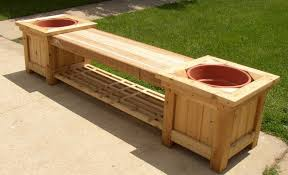 deck planter bench plans g plan round