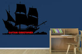Nautical Theme Boys Room Pirate Ship Decal Custom Pirate Ship Boys Room Decal Pirates Decal Pirate Theme Custom Wall Decal Boys Room