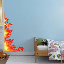 Bedroom Flame Wall Decal Kids Decals Game Room Removable Fire Decals D American Wall Designs