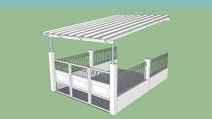 St Monique Valais Nicole Townhouse Carport Roof Fence And Gate 3d Warehouse