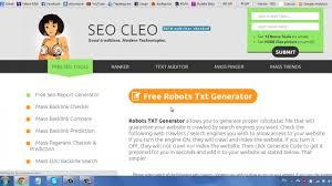 seo cleo robots txt file generator