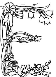 Kids N Fun Kleurplaat Alfabet Bloemen E