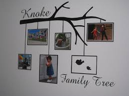 Family Tree Wall Graphic With Photo Frames Vinyl Wall Decal
