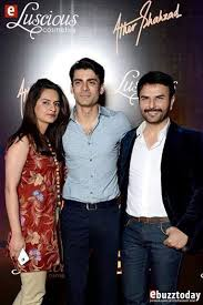 fawad khan with his wife at ather