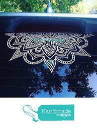 Half Mandala Window Decals Car Decals Wall Decal Vinyl Decal Mandala Sticker Boho Decal Om Zen Hippy Yoga Henna In Car Window Stickers Car Decals Window Decals