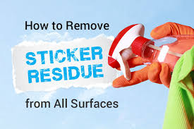 how to remove sticker residue from all