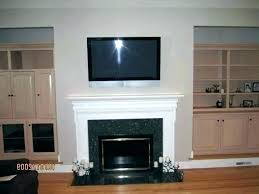 mount a above fireplace over brick nook