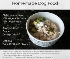 basic foundation for homemade dog food