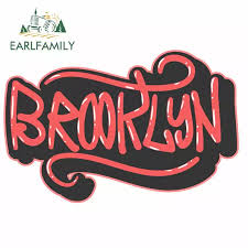 Earlfamily 13cm X 8 7cm For Brooklyn New York Diy Motorcycle Car Stickers Fashion Personality Creative Sticker Waterproof Decal Car Stickers Aliexpress