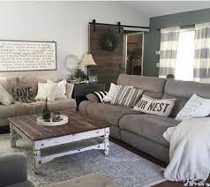 adorable brown couch grey curtains
