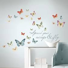 Roommates Rmk3263scs Lisa Audit Butterfly Quote Peel And Stick Wall Decals Multicolor Amazon Com