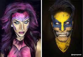 female superhero makeup