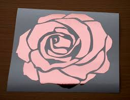 Rose Gold Foil Rose Decal Laptop Decal Windshield Decal Etsy