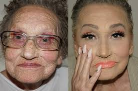 this grandma s makeup transformation is