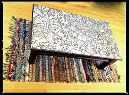 custom mosaic mirrored coffee table by