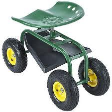 330lbs garden cart rolling work seat