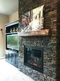 faux stone fireplace surround wall