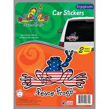 U S A Peace Frogs Car Sticker Peace Frogs Creemers Enterprise Llc