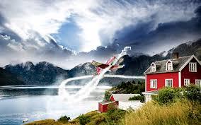 norway aviation hd wallpaper hd