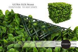 Topiary Greenery Panels Artificial Hedge Outdoor Artificial Plant Sound Diffuser Privacy Fence Hedge Great Boxwood And