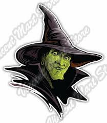 Wicked Witch The Wizard Of Oz Cartoon Car Bumper Vinyl Sticker Decal 4 X5 Ebay