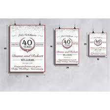 ruby wedding anniversary sign ruby