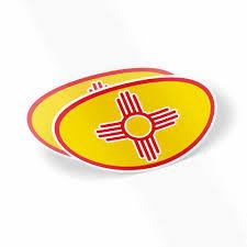 Nm Zia 2 Sticker Set 5 X 3 Oval New Mexico Weatherproof Window Vinyl Sticker Decals For Car Or Laptop Spacedust