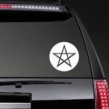 Wiccan Pentagram Circle Transfer Sticker