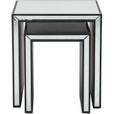 jim nesting table set of 2 clear black