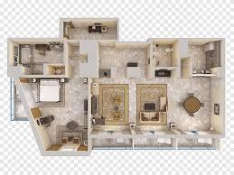3d floor plan house bed top view