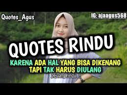 kumpulan caption quotes rindu cocok buat story wa