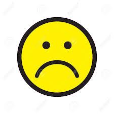 unhappy face symbol flat stile vector