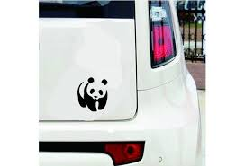 2pcs 15 15cm Panda Vinyl Decal Sticker Car Window Bumper Wall Macbook Bear Cute Universal Decorative Car Sticker Black White Gold Blue Red Silver Wish