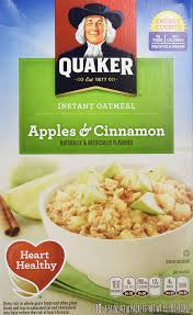 quaker instant oatmeal packets from