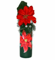 red poinsettia upcycled wine