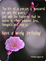 image flower and inspirational birthday greeting happy