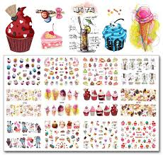 Nail 12 Sheetsmt91 Ful Cake Cool Drink Ice Cream Nail Art Water Decal Sticker For Art Tattoo Decoration Nail Sticker Decals Nails With Stickers From Hirame 13 88 Dhgate Com