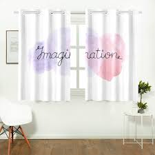 Amazon Com Wiedlkl Blackout Kids Curtains Imagination Ink Hand Lettering Pink Violet Living Room Modern Curtains Light Up Window Curtains For Cafe Bath Laundry Living Room 26x39inch 2pieces Home Kitchen