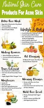 natural face cream for acne e skin