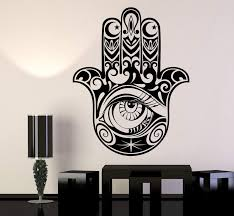 Vinyl Wall Decal Hamsa Hand Of God Protective Amulet Beautiful Eye Sti Wallstickers4you