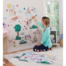 Children S Decorative Wall Stickers For Kids Rooms Fantasy Land Hearthsong Target