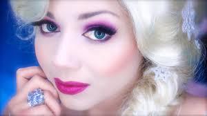 frozen elsa makeup and hair tutorial